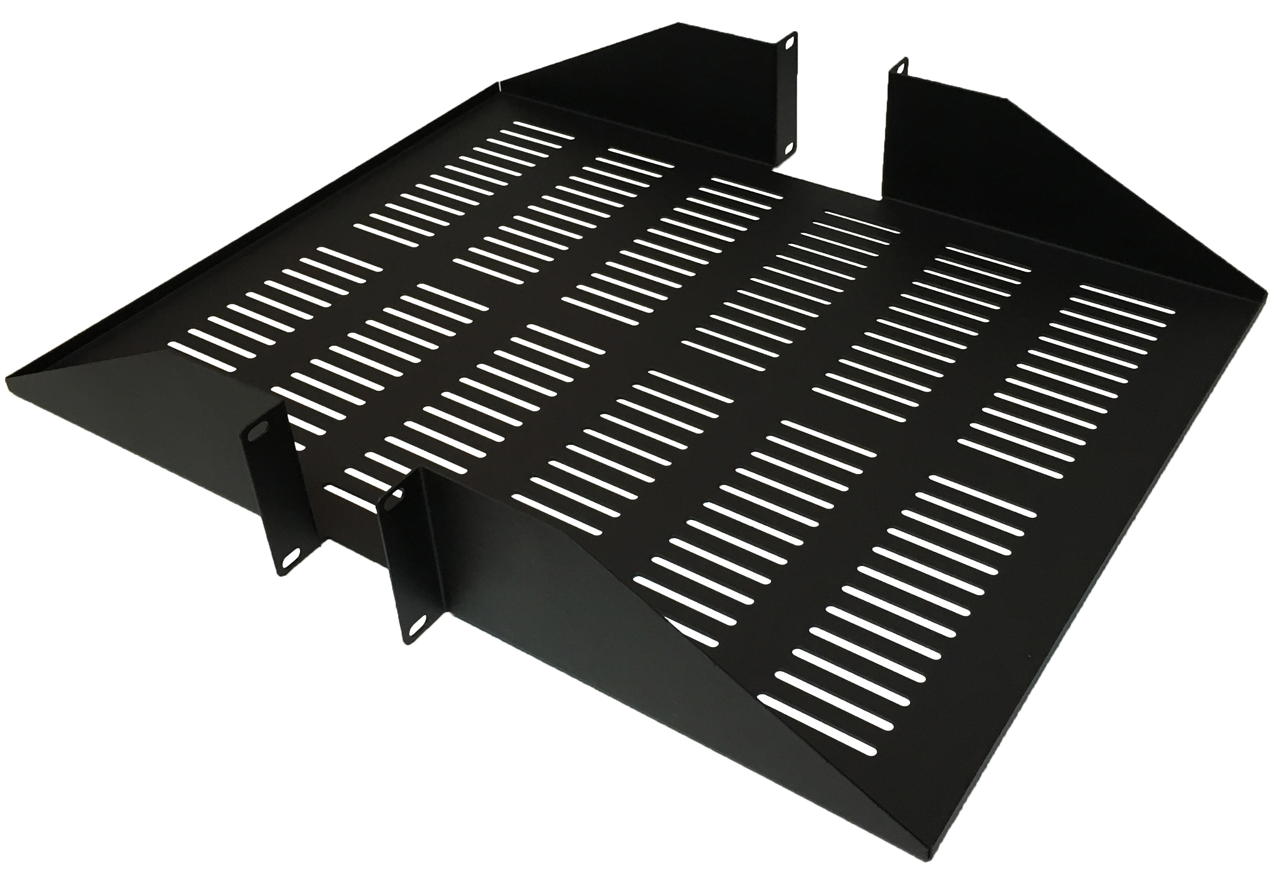 "120168V - 19"" Center Mount Vented Rack Shelf (1.5mm) - 22"" Depth - 2U (3.5"")"