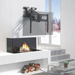 "309084BK - Motorized Fireplace Mantel TV Wall Mount: 37""- 70"" Screens"
