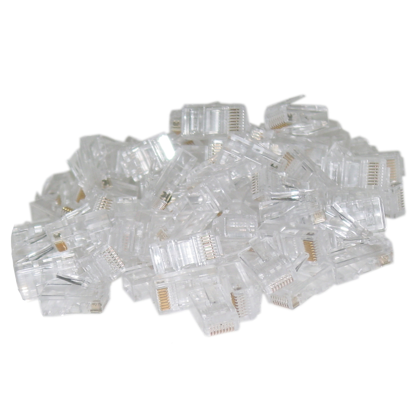 108702 - CAT6 RJ45 Crimp-On Connector Plugs for Stranded Cable - Bag of 50