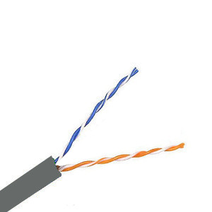 100132GY - CAT3 Cable, 2 Pair, UTP, Riser Rated (CMR), Solid Bare Copper - Gray- 1000ft