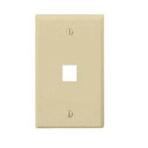 102101IV - 1-Port Keystone Wall Plate - Ivory