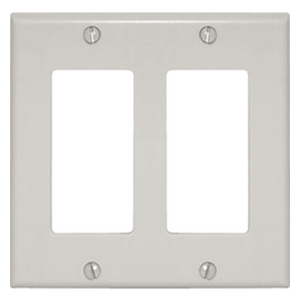 102147-WH - Decora Trim Ring Wall Plate - Double Gang - White