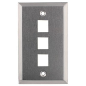 102153 - 3-Port Stainless Steel Wall Plate