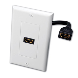 102172WH - 1-Port HDMI Wall Plate - White