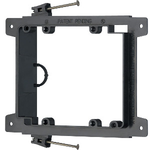 102194NCN - Low Voltage Mounting Bracket for New Construction - Nail-On - Double Gang - Plastic
