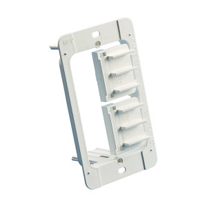102195 - Low Voltage Mounting Bracket - Junction Box Eliminator - Single Gang - Plastic