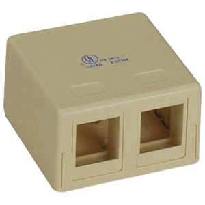 102302IV-A - 2-Port Keystone Surface Mount Box - Ivory