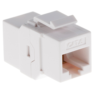 102642WH - CAT6 - RJ45 Female to Female - Keystone Coupler Insert - White