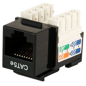 102650BK - CAT5e - RJ45 - Premium Punch Down Keystone Jack Insert - Black