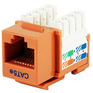 102650OR - CAT5e - RJ45 - Premium Punch Down Keystone Jack Insert - Orange