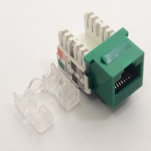 102653GN - CAT5e - RJ45 - Standard Punch Down Keystone Jack Insert - Green