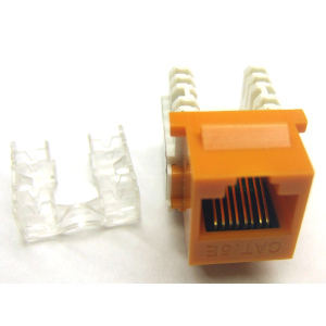 102653OR - CAT5e - RJ45 - Standard Punch Down Keystone Jack Insert - Orange