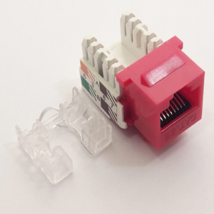 102653RD - CAT5e - RJ45 - Standard Punch Down Keystone Jack Insert - Red
