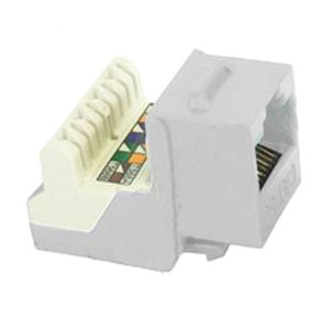 102654WH - CAT5e - RJ45 - 8-in-a-row Punch Down Keystone Jack Insert - White