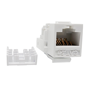 102656XWH - CAT5e - RJ45 - Toolless Keystone Jack Insert - White