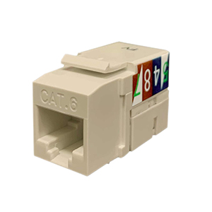 102660-XLA - CAT6 - RJ45 - Premium Punch Down Keystone Jack Insert - Light Almond