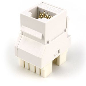 102662WH - CAT6 - RJ45 - 180 Degree Punch Down Keystone Jack Insert - White