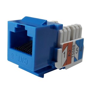 102666BL - CAT6 - RJ45 - Standard Punch Down Keystone Jack Insert - Blue