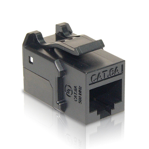 102671BK - CAT6A - RJ45 - 10G Punch Down Keystone Jack Insert - Black
