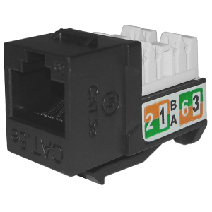 102710BK - APEX CAT5e - RJ45 - Punch Down Keystone Jack Insert - Black