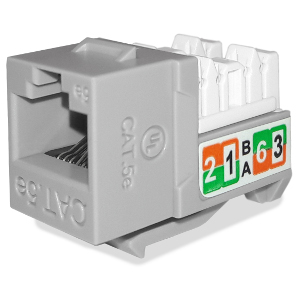 102710GY - APEX CAT5e - RJ45 - Punch Down Keystone Jack Insert - Gray