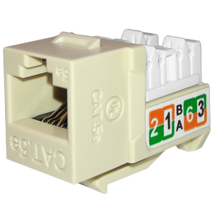 102710IV - APEX CAT5e - RJ45 - Punch Down Keystone Jack Insert - Ivory