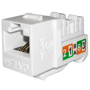 102710WH - APEX CAT5e - RJ45 - Punch Down Keystone Jack Insert - White