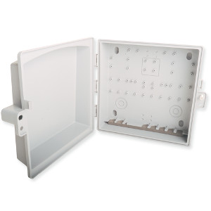 "103930 - Wall Mount Plastic Demarc Box - 11.5"" H x 11.5"" W x 5.7"" D"