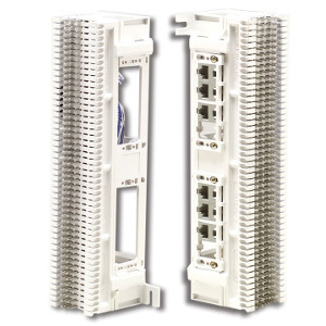 104260 - Siemon 66 Block with (12) RJ45 Ports, 6 each side