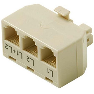 106959IV - RJ11 (6P4C) Telephone Line Splitter - 1 Male x 3 Female