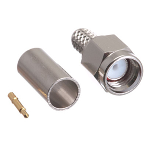 108411M - RG59 or RG6 - Crimp-On SMA Connector - Male