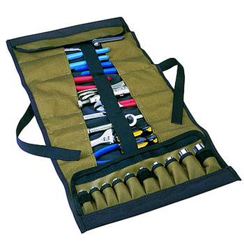 109524 - Custom LeatherCraft (CLC) - Tool and Socket Roll-Up Pouch - 32 Pocket