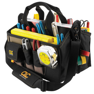 "109534 - Custom LeatherCraft (CLC) - 15 Pocket, 16"" Center Tray Tool Bag"