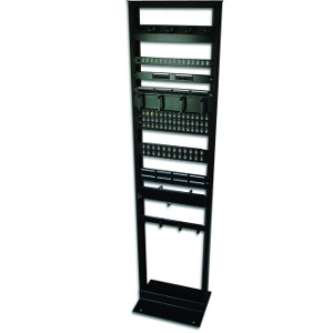 "120010BK - 19"" 2-Post Network Relay Rack - 45U"