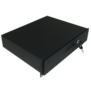 "120252BK - 19"" Heavy Duty Rack Drawer w/Lock and Key - 2U (3.5"")"