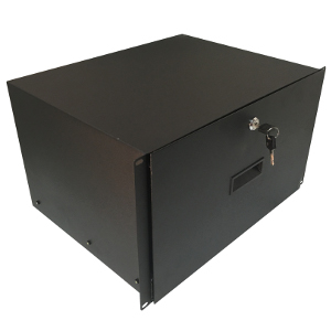 "120256BK - 19"" Heavy Duty Rack Drawer w/Lock and Key - 6U (10.5"")"