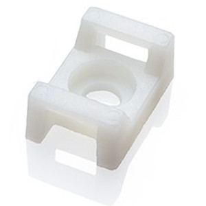 120782WH - Cable Tie Mounting Saddle  - 15 x 10 x 7mm - Bag of 100 - White