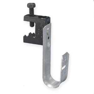 "120930 - J-Hook Cable Hanger with Screw-Type Beam Clamp - 3/4"" Loop"