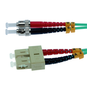 162232/10M - SC-ST 10 Gigabit OM3 Multimode Duplex Fiber Optic Jumper - 50/125 - 10 Meter