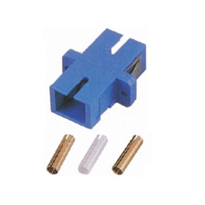 162517 - SC to SC, Singlemode Zirconia Sleeve, Flange Type, Blue