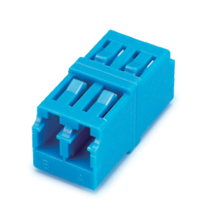 162547 - LC to LC, Duplex, Singlemode, Zirconia Sleeve, Square Type, Blue