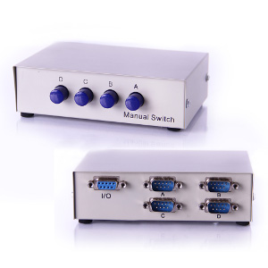 250508 - 4-Port DB9 RS232 Serial Switch