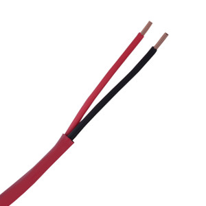 158632RD - Fire Alarm Wire - 14 AWG/2 Conductor, Riser (FPLR), Unshielded, Solid Bare Copper, 1000ft