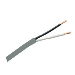 155532GY - Security Wire - 14 AWG/2 Conductor, CL3R, Unshielded, Stranded Bare Copper, 1000ft - Grey