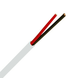 155472WH - Security Wire - 22 AWG/2 Conductor, CL3R, Shielded, Stranded Bare Copper, 1000ft - White
