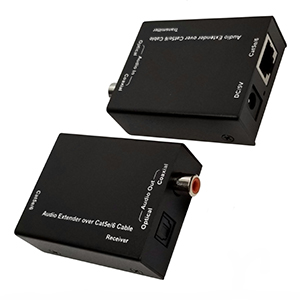 301200 - Digital Coax/Optical Toslink Audio Extender over Cat5e/6 Cable up to 300m