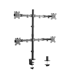 "309004BK - Quad Monitor Desktop Clamp Mount: 13""-32"" Screens"