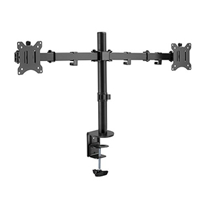 "309005BK - Dual Monitor Articulating Desktop Clamp Mount: 17""-32"" Screens"