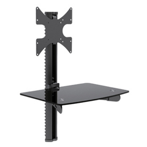 "309450BK - TV Wall Mount with AV Component Shelf: 23-42"" screens"