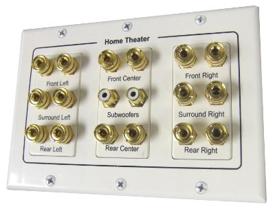 3W1082WH - 8.2 Speaker Wall Plate